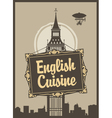 English cuisine vector image vector image
