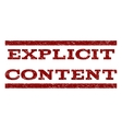 Explicit Content Watermark Stamp vector image vector image
