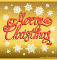 festive gold merry christmas background vector image