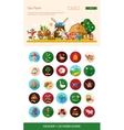 Flat design farm agriculture icons and elements vector image vector image