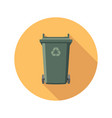 flat recycling wheelie bin icon vector image vector image