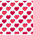 flat red hearts valentines day background vector image vector image