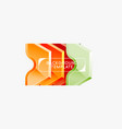 geometric banner made glossy geometric shapes vector image vector image