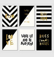 greeting cards collection vector image vector image