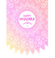 happy dussehra background decorated with vector image vector image