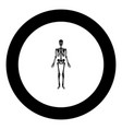 human skeleton icon black color in round circle vector image