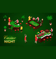 isometric casino set vector image vector image