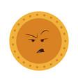 kawaii golden coin character icon vector image