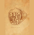 macciato cup craft vector image vector image