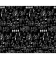 Office life black and white seamless pattern vector image vector image