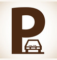 parking graphic design vector image