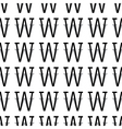 pattern letter w vector image vector image