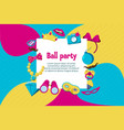 photo booth party invitation card vector image vector image