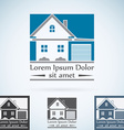 Real Estate logo design template color set House vector image vector image