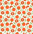 Red tomatoes pattern vector image vector image