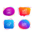 report document credit card and graph chart icons vector image vector image