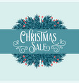 Retro christmas card with tree branches and