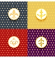 Royal patterns set vector image vector image