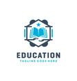 school education book logo design vector image