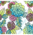 Seamless pattern colorful succulent wallpaper vector image vector image