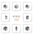 section steel icon symbol isometric vector image vector image