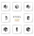 section steel icon symbol isometric vector image