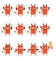 set devil flat icons vector image