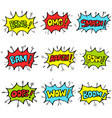 set hand drawn comic speech bubbles vector image vector image