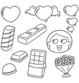 set of valentine day vector image vector image