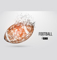 silhouette a football ball vector image