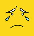 smile icon template design cry sad emoticon vector image