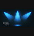spotlight transparent light effect show design vector image