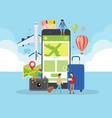 summer vacation online ordering vector image