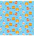 Sweets and candies seamless pattern vector image vector image
