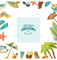 The best summer poster vector image vector image