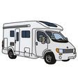 the white caravan vector image vector image