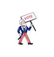 Uncle Sam Placard Vote Standing Cartoon vector image vector image