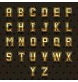 retro golden alphabet vector image