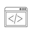 sketch silhouette browser web development icon vector image