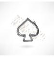 spades cards grunge icon vector image