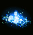 abstract blue bokeh and light background vector image vector image