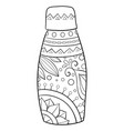 adult coloring bookpage a cute vase