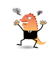 angry or godzilla-like boss vector image vector image