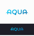 aqua water logo on white and black background vector image