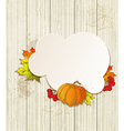 Background with pumpkin and red viburnum vector image vector image