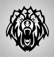 Bear Face Tribal vector image vector image