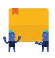 Billboard Blue Man vector image vector image