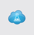 Blue cloud laboratory icon vector image