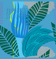 blue river herb grass flow stream seamless pattern vector image vector image