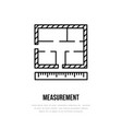 building measurements architectural plan vector image